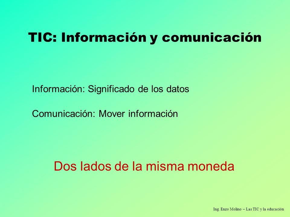 TIC: Información y comunicación