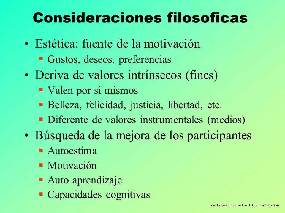 Consideraciones filosoficas