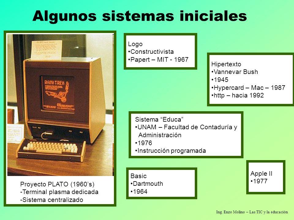 Algunos sistemas iniciales