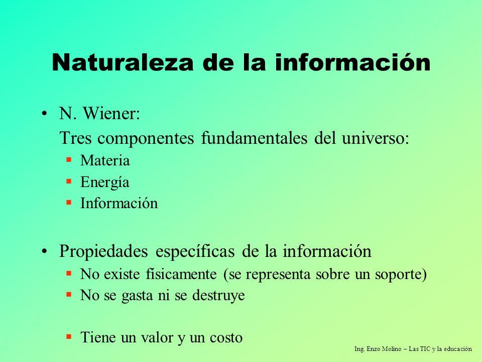 Naturaleza de la información