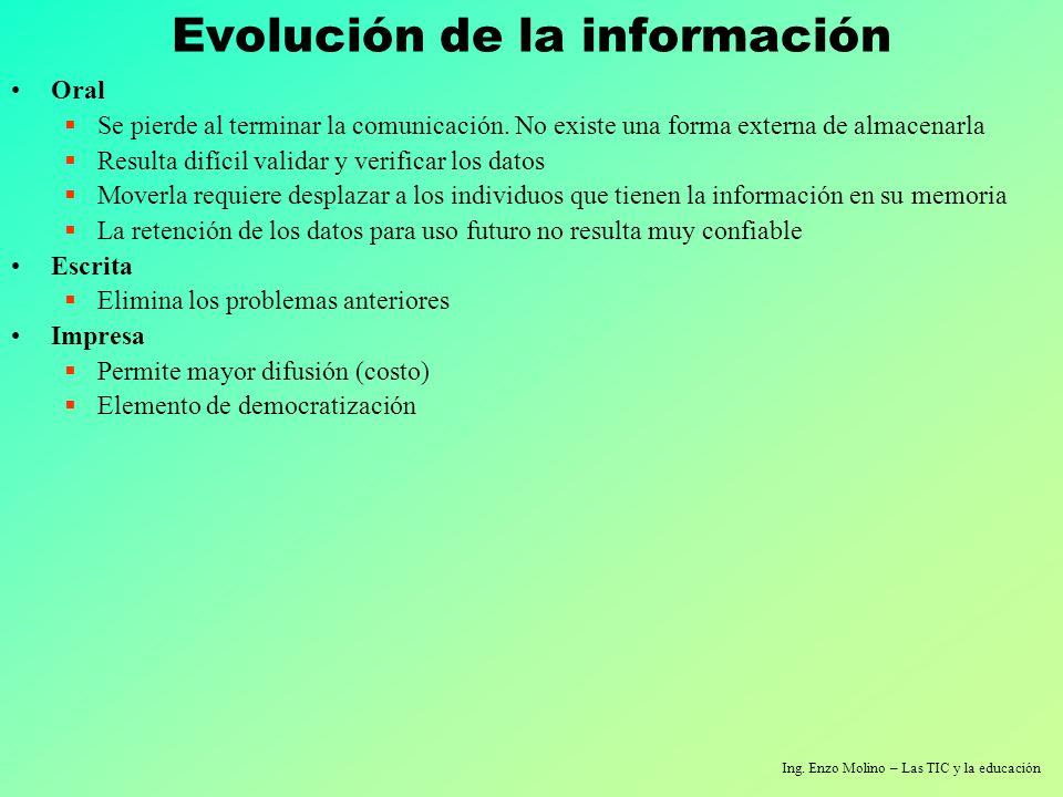 Evolución de la información