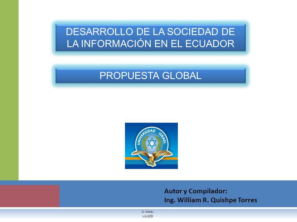 DESARROLLO DE LA SOCIEDAD DE LA INFORMACIÓN EN EL ECUADOR