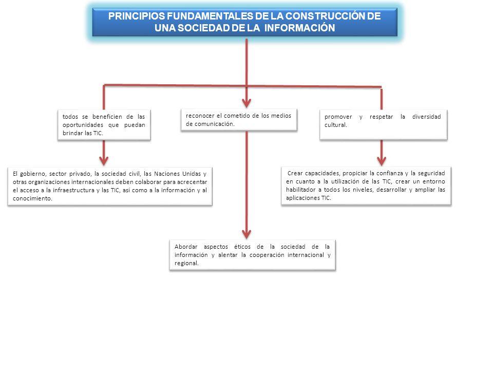 PRINCIPIOS FUNDAMENTALES DE LA CONSTRUCCIÓN DE UNA SOCIEDAD DE LA INFORMACIÓN
