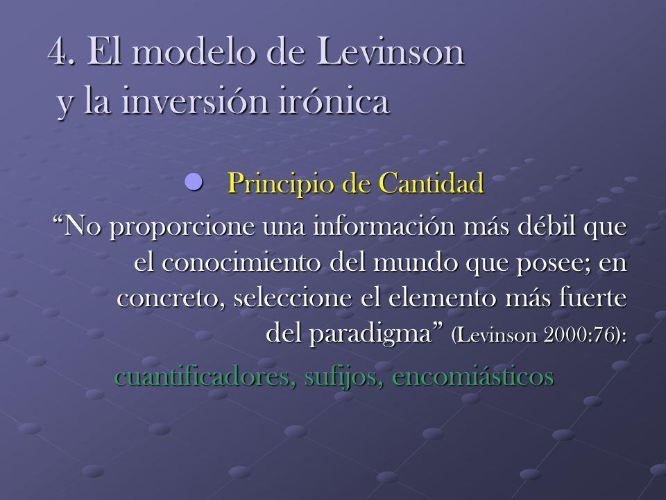 4. El modelo de Levinson y la inversión irónica