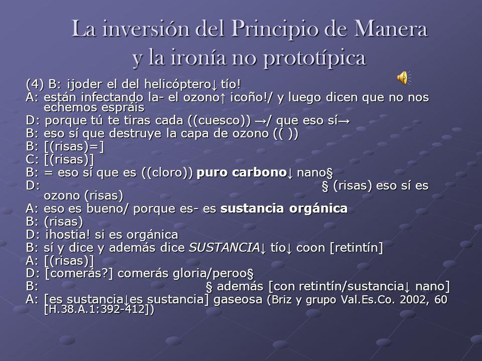 La inversión del Principio de Manera y la ironía no prototípica