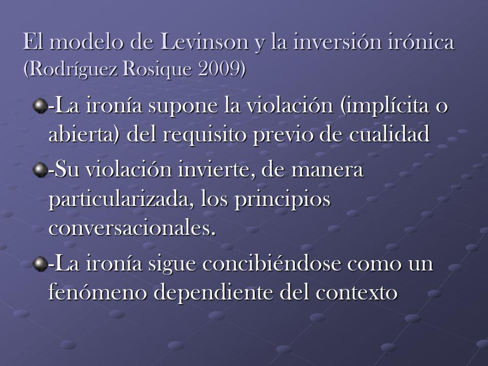 El modelo de Levinson y la inversión irónica (Rodríguez Rosique 2009)
