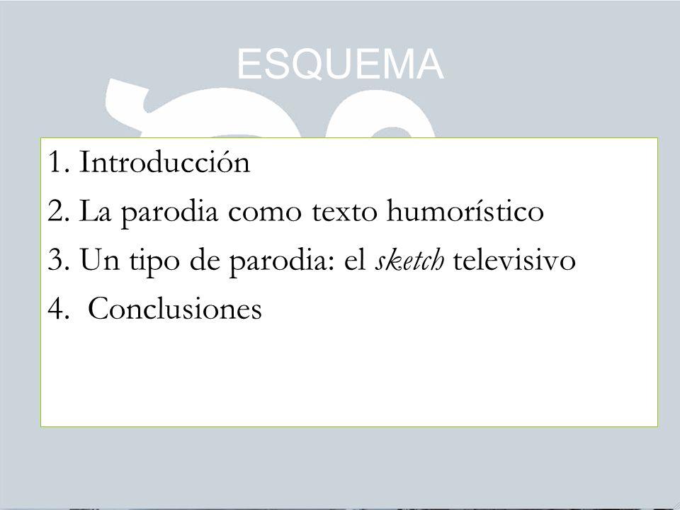 ESQUEMA 1. Introducción 2. La parodia como texto humorístico