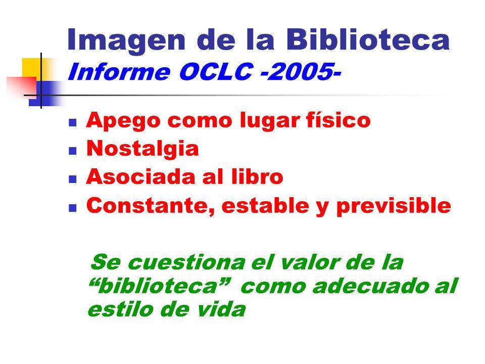 Imagen de la Biblioteca Informe OCLC -2005-