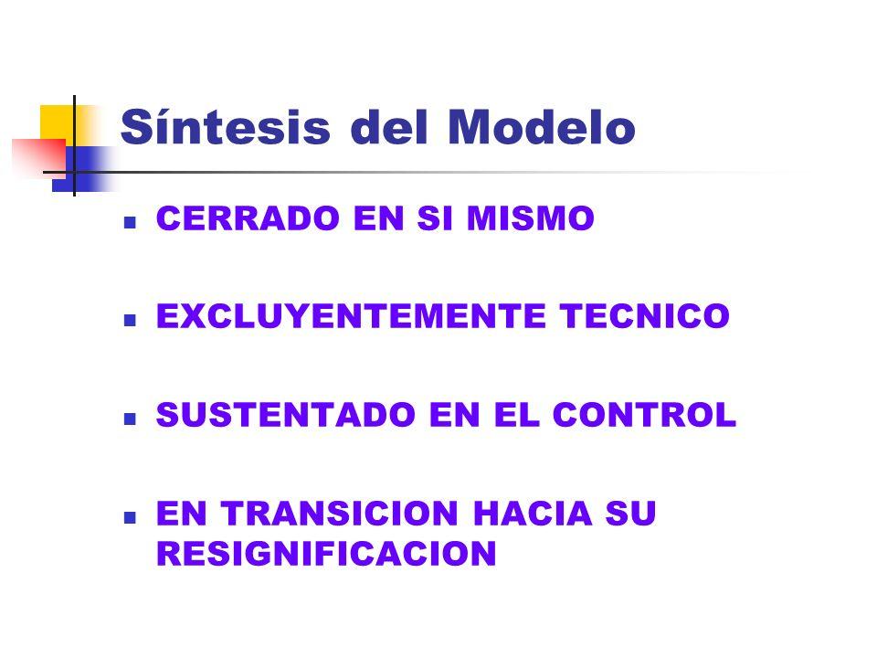 Síntesis del Modelo CERRADO EN SI MISMO EXCLUYENTEMENTE TECNICO