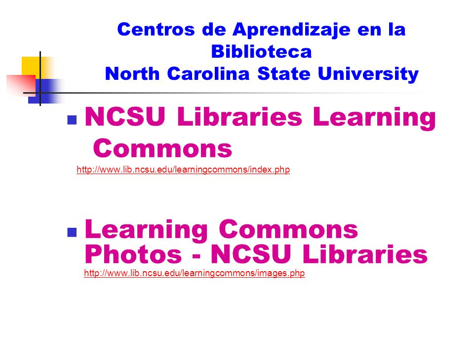 NCSU Libraries Learning Commons