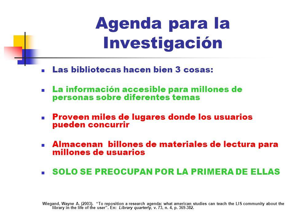 Agenda para la Investigación