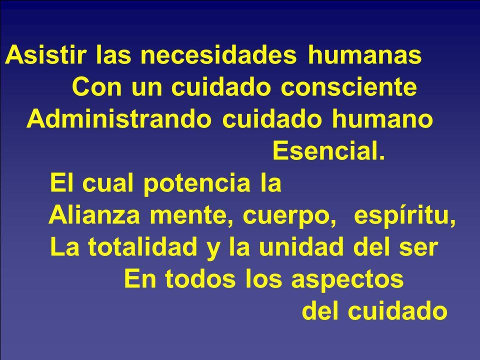 Asistir las necesidades humanas