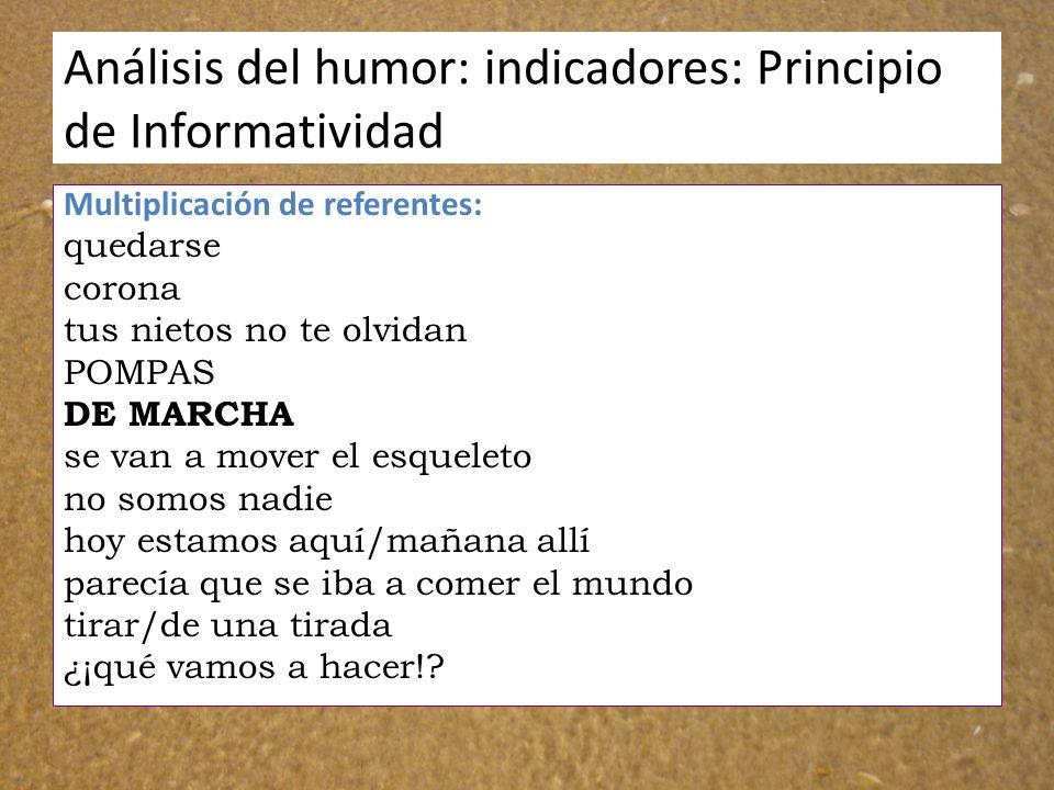 Análisis del humor: indicadores: Principio de Informatividad