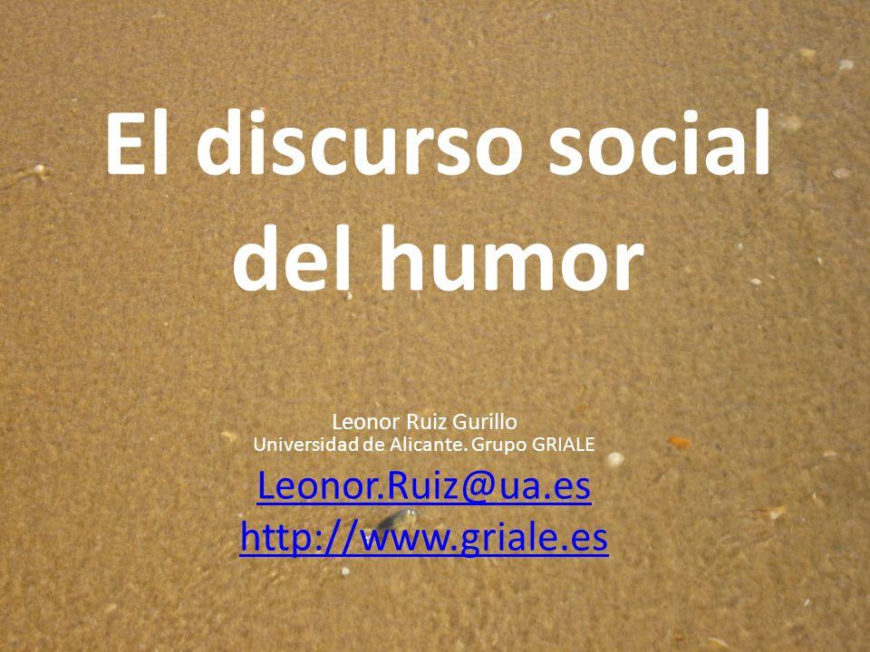 El discurso social del humor