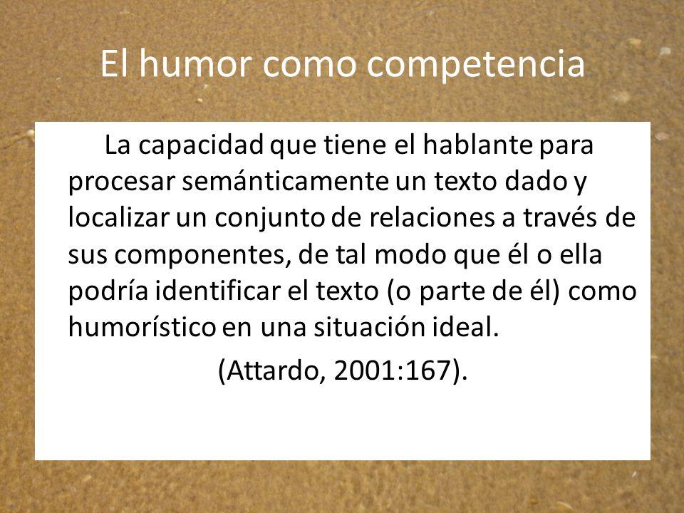 El humor como competencia