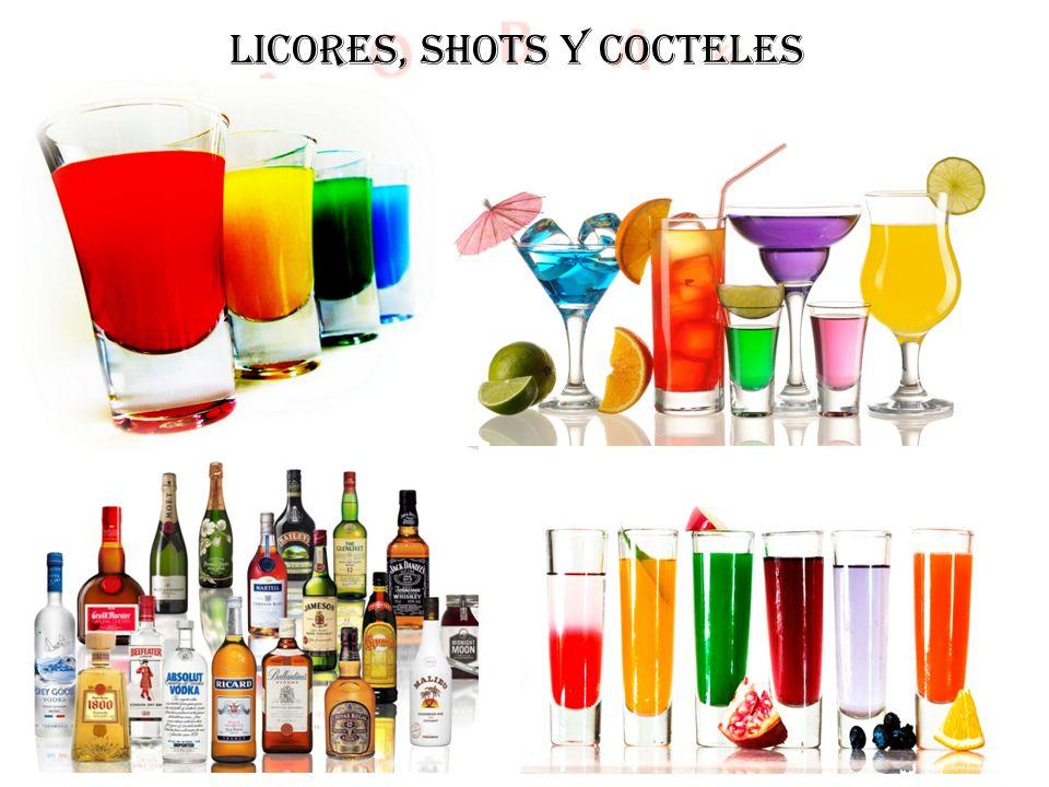 LICORES, SHOTS Y COCTELES