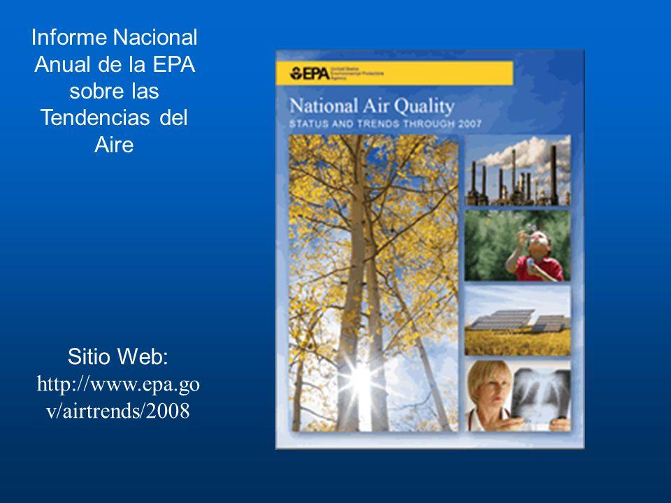 Informe Nacional Anual de la EPA sobre las Tendencias del Aire
