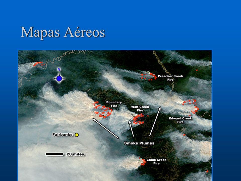 Mapas AéreosLos mapas aéreos son otra forma de ilustrar la contaminación, especialmente de de fuentes fugitivas y de materia en forma de partículas.
