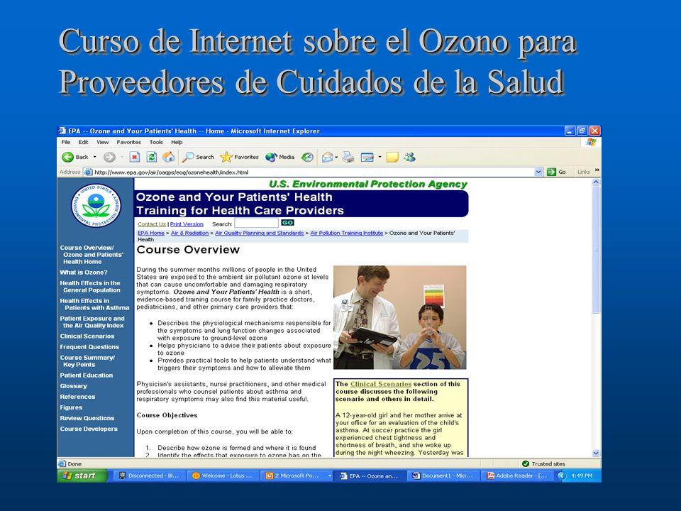 Curso de Internet sobre el Ozono para Proveedores de Cuidados de la Salud