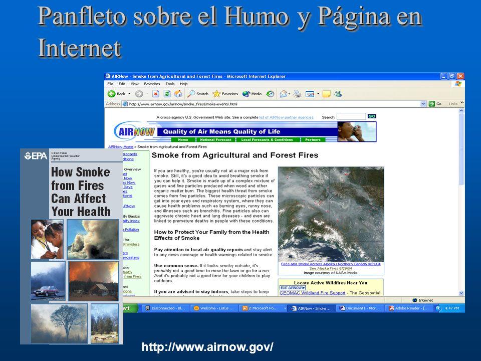 Panfleto sobre el Humo y Página en Internet