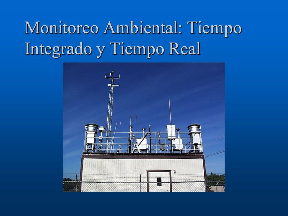 Monitoreo Ambiental: Tiempo Integrado y Tiempo Real