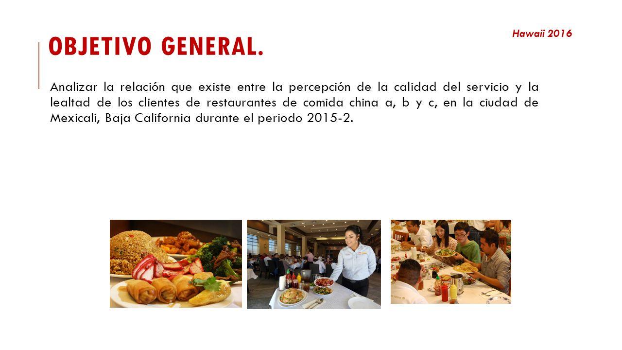 Calidad del servicio y lealtad en restaurantes de comida china ...