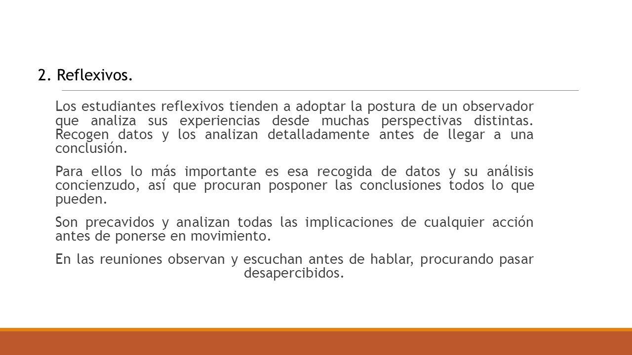 2. Reflexivos.