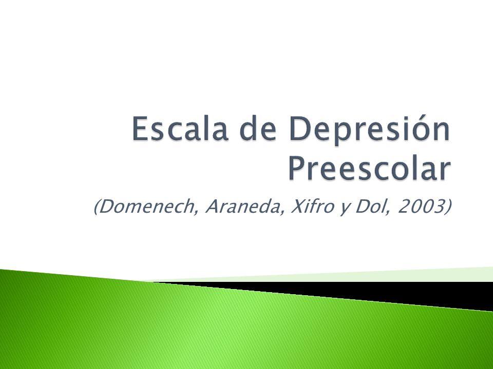 Escala de Depresión Preescolar