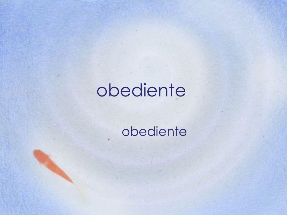 obediente obediente