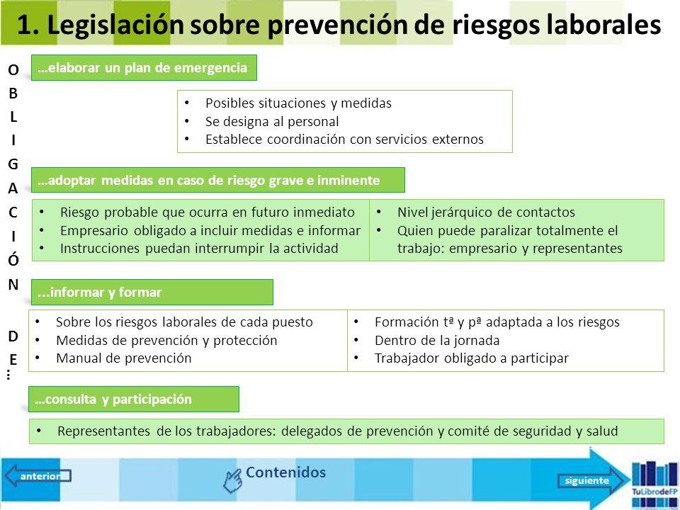 Unidad 9 la prevenci n de riesgos legislaci n y for Plan de prevencion de riesgos laborales oficina