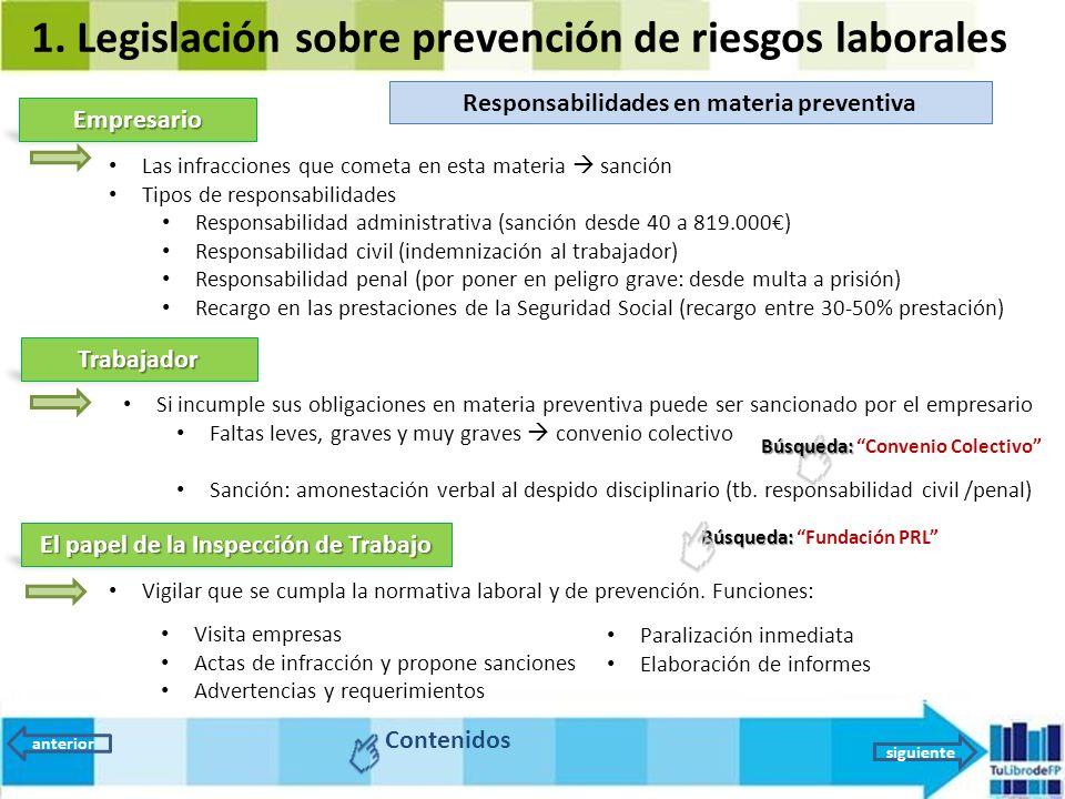 Unidad 9 la prevenci n de riesgos legislaci n y for Riesgos laborales en oficinas administrativas