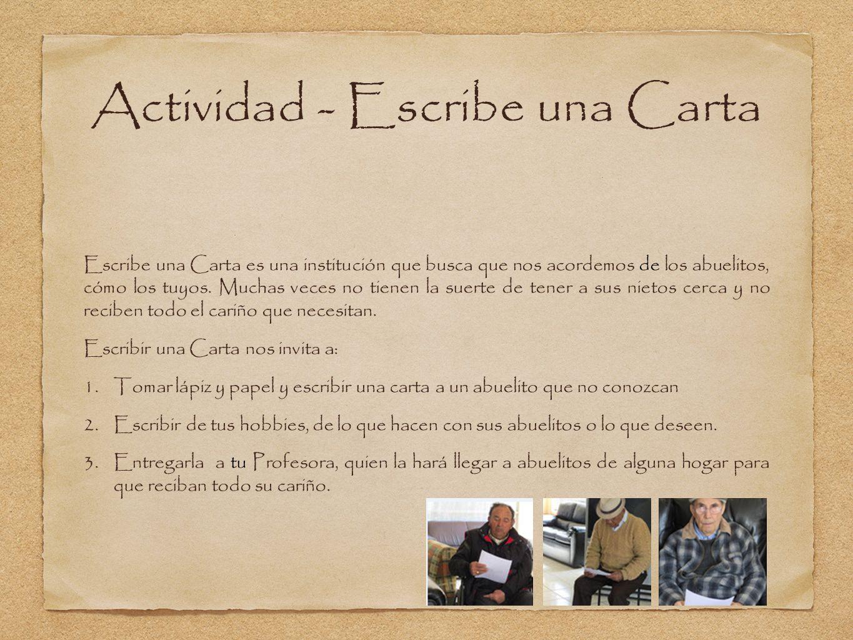 Actividad - Escribe una Carta
