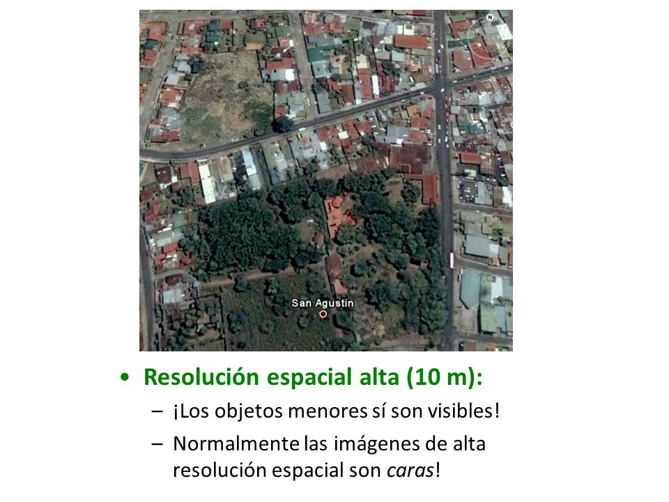 Resolución espacial alta (10 m):