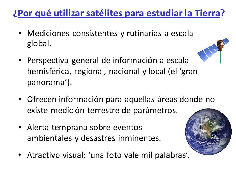 ¿Por qué utilizar satélites para estudiar la Tierra