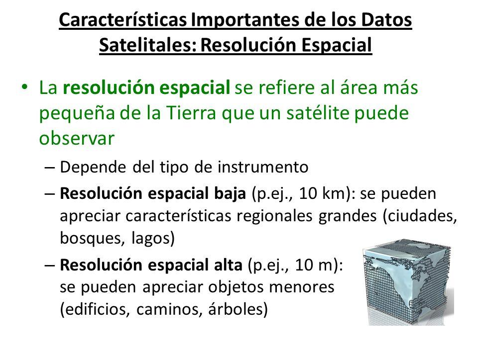 Características Importantes de los Datos Satelitales: Resolución Espacial