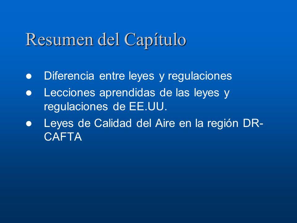 Resumen del Capítulo Diferencia entre leyes y regulaciones