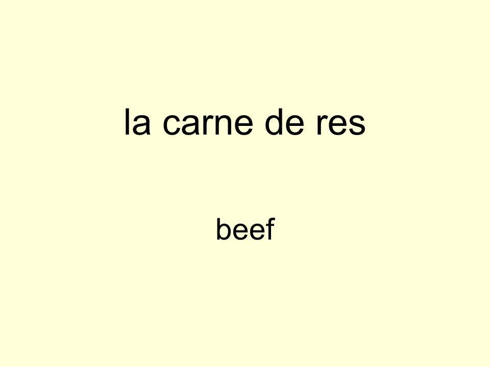 la carne de res beef