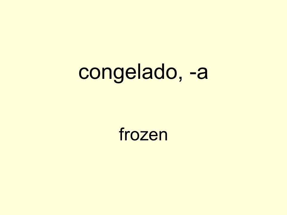 congelado, -a frozen