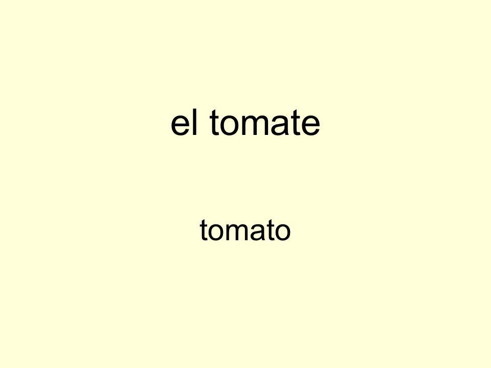 el tomate tomato