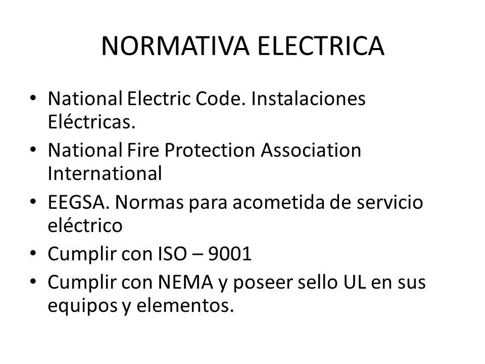 NORMATIVA ELECTRICA National Electric Code. Instalaciones Eléctricas.