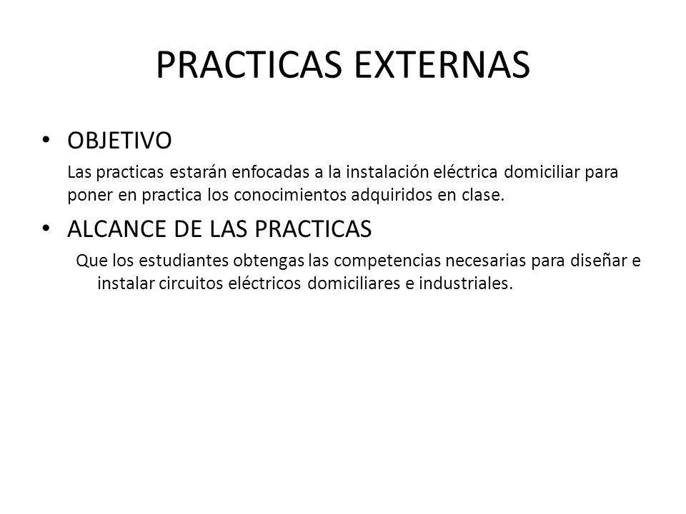 PRACTICAS EXTERNAS OBJETIVO ALCANCE DE LAS PRACTICAS