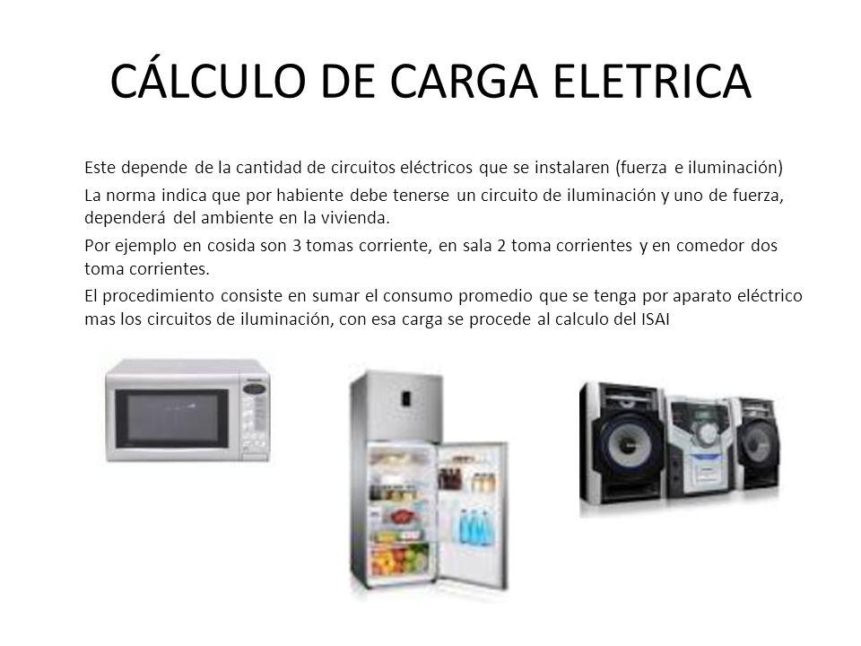 CÁLCULO DE CARGA ELETRICA