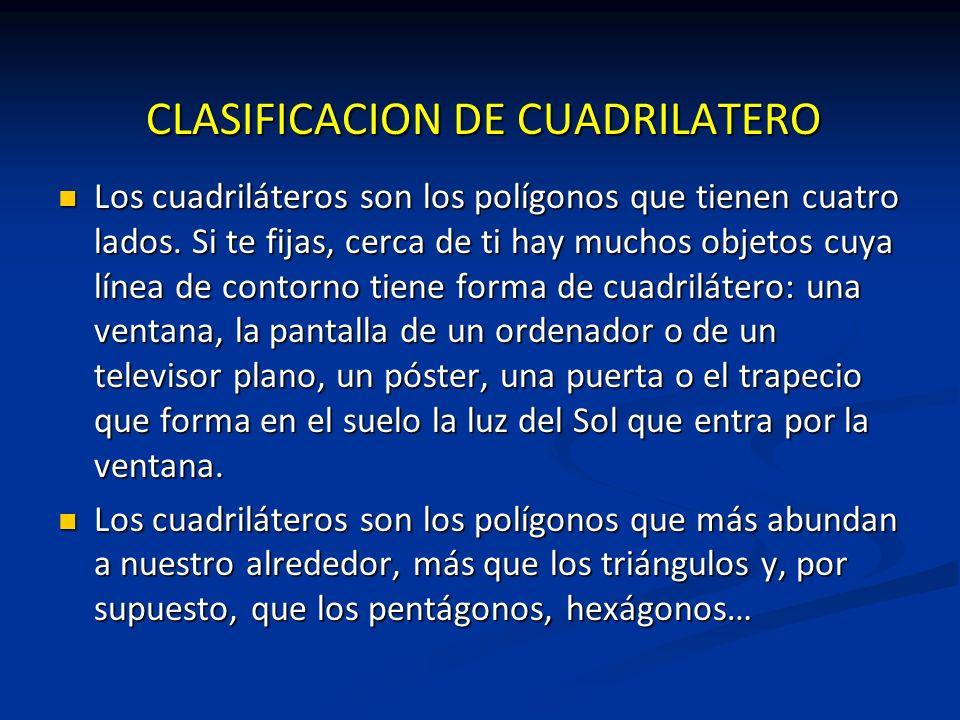 CLASIFICACION DE CUADRILATERO