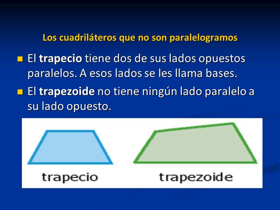 Los cuadriláteros que no son paralelogramos