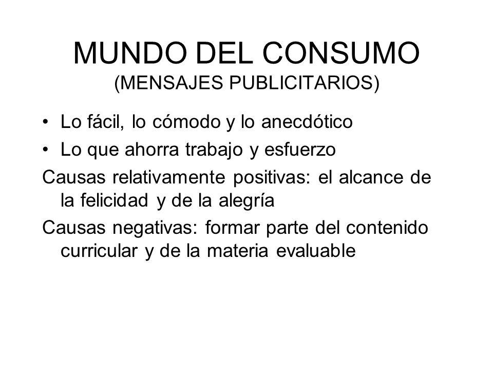 MUNDO DEL CONSUMO (MENSAJES PUBLICITARIOS)