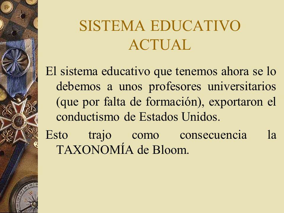 SISTEMA EDUCATIVO ACTUAL