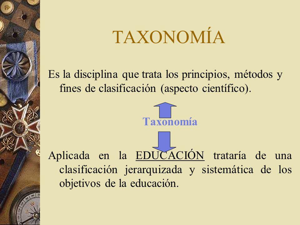 TAXONOMÍA Es la disciplina que trata los principios, métodos y fines de clasificación (aspecto científico).