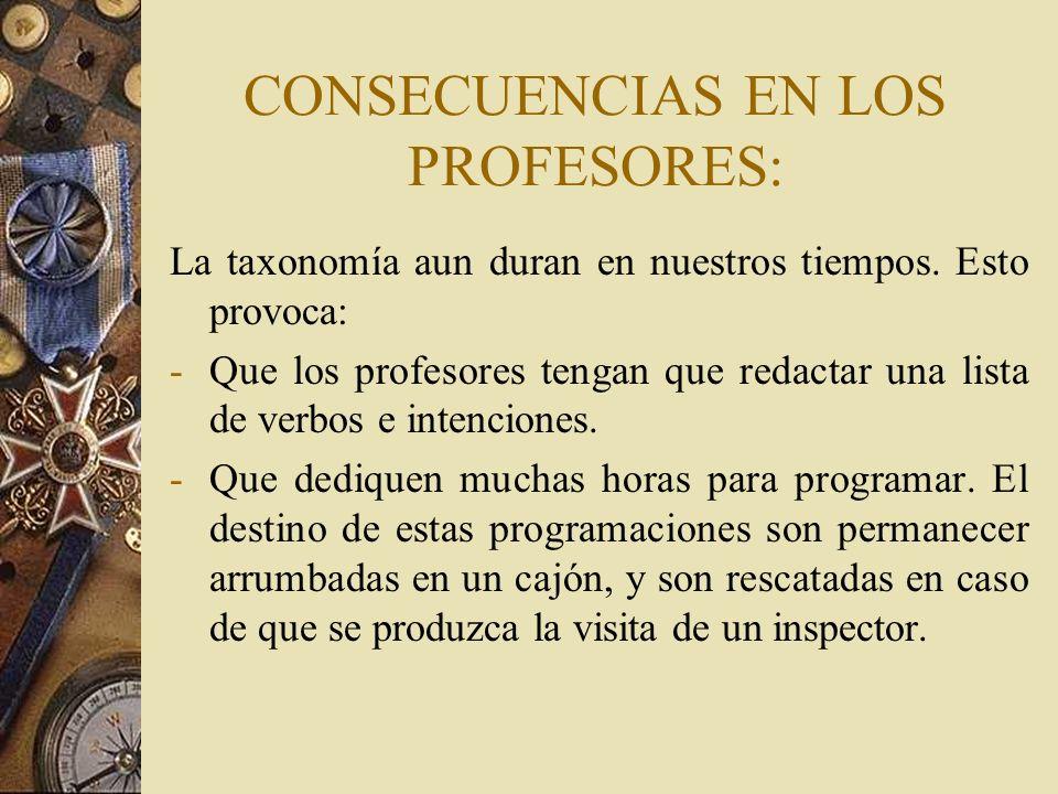 CONSECUENCIAS EN LOS PROFESORES: