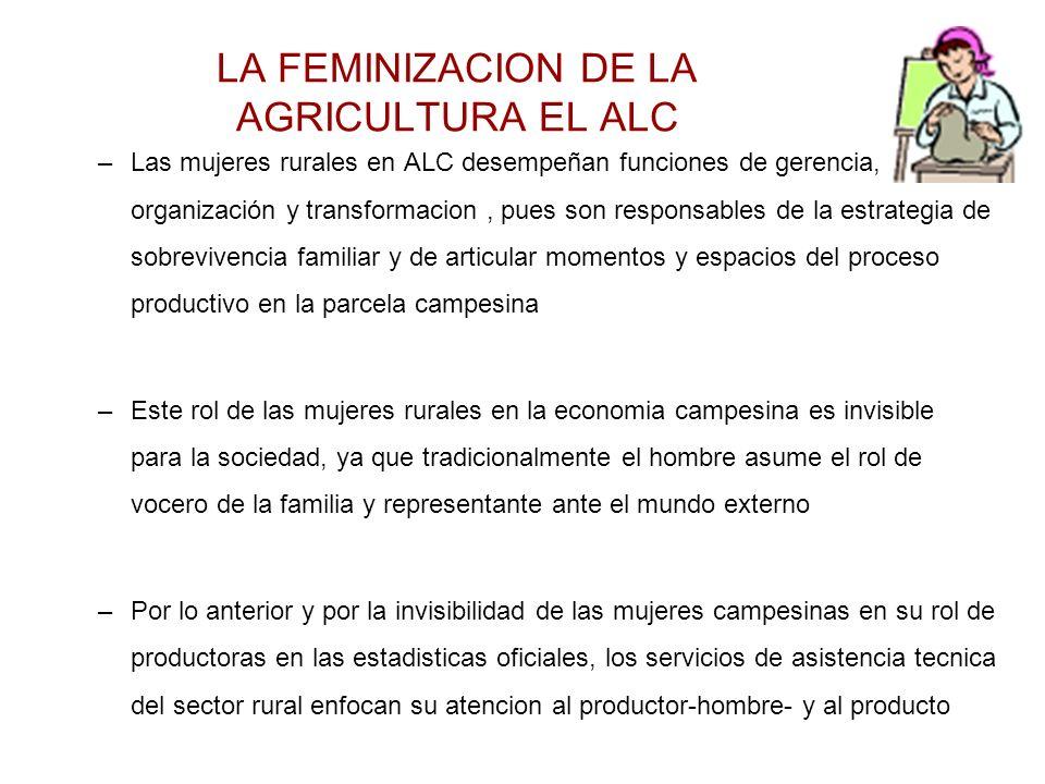 LA FEMINIZACION DE LA AGRICULTURA EL ALC