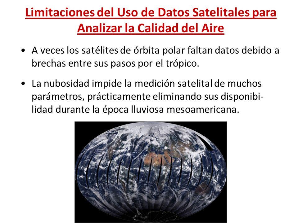 Limitaciones del Uso de Datos Satelitales para Analizar la Calidad del Aire